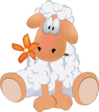 Comfy sheep sitting