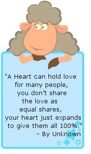 Heart loves many Blue Sheep board