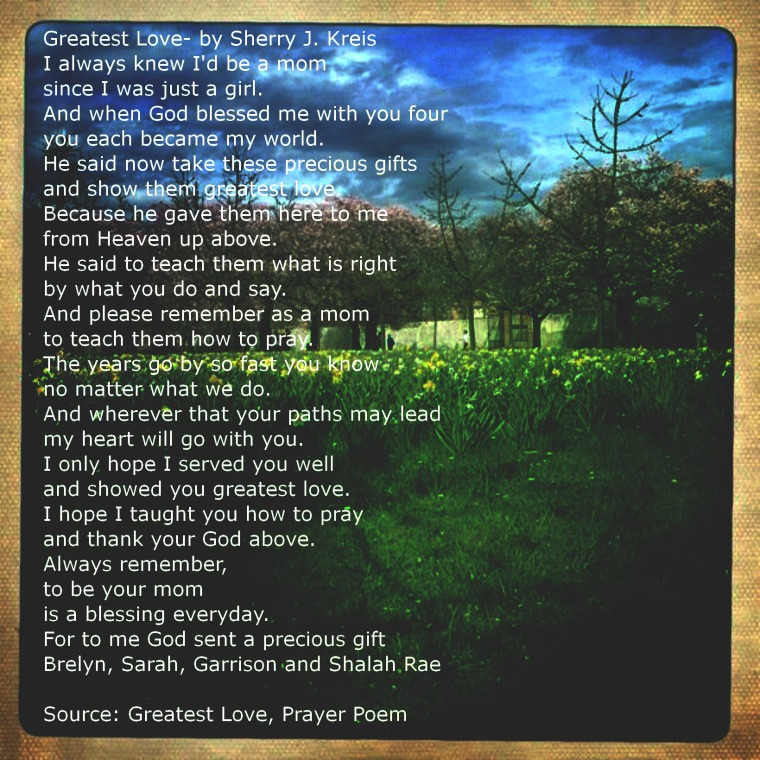 Greatest Love - A Poem