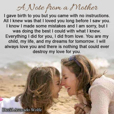 mothers love is unconditional
