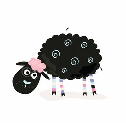 Black Baby Sheep